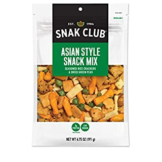 Snak Club Asian Style Snack Mix, Non-GMO, 6.75-Ounces, 6-Pack