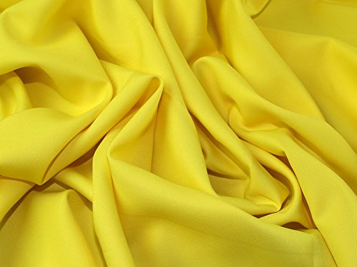 (Polyester Twill Suiting Dress Fabric Yellow - per metre)