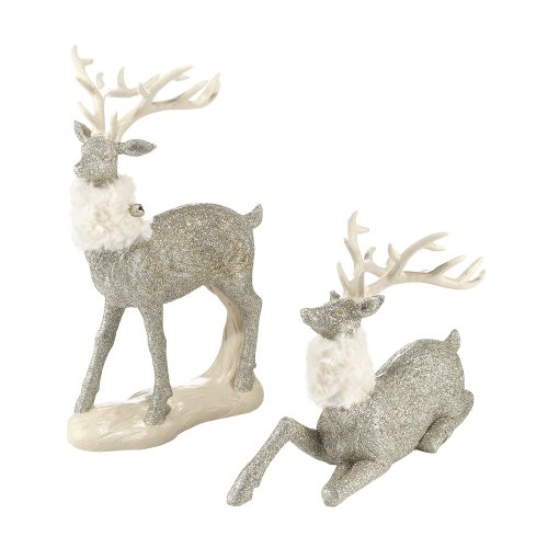 Department 56 Snowbabies Glittered Reindeer Pair Figurine, 13 inch