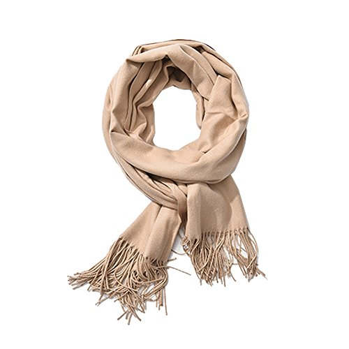 ISuperb Cashmere Feel Pashmina Winter Tassels Scarf Oversized Solid Color Scarf