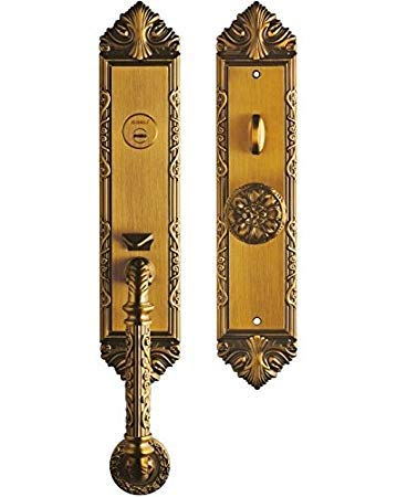 K6829 ORB # Luxurious Entry Handlesets Entrance Front Door Handle Locksets Victorian Style Knobs Keyed Entry Set 2 3/8