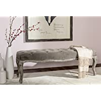 Safavieh Mercer Collection Ramsey Bench, Mushroom Taupe