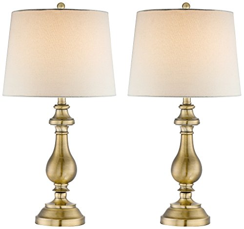 Fairlee Brass Candlestick Table Lamp Set of 2 Regency Brass Table Lamp
