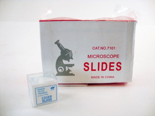 Microscope Slides, 100 Blank Slides with 100 Cover Glass (Cover Slide Glass)