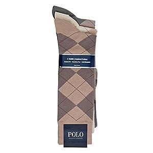 Polo Ralph Lauren Mens Dress Socks (Beige Multi)