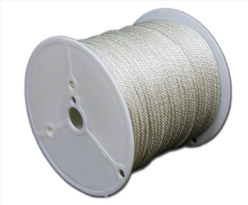 T.W Evans Cordage 44-650 3/16-Inch Solid Braid Nylon Rope 500-Feet Spool