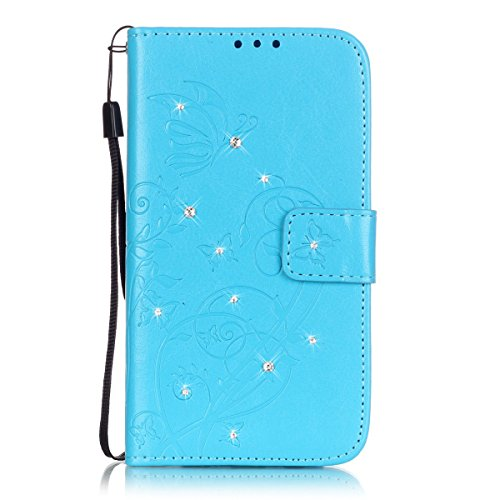 Samsung Galaxy S6 Edge Plus Hülle Leder,Samsung Galaxy S6 Edge Plus Hülle Flip Case,Galaxy S6 Edge Plus Case,Galaxy S6 Edge Plus Cover,EMAXELERS Samsung Galaxy S6 Edge Plus PU Leder Wallet Brieftasche Diamond Butterfly 4