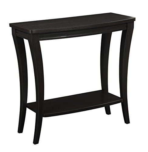 Newport Console - Convenience Concepts Newport Console Table with Shelf, Espresso