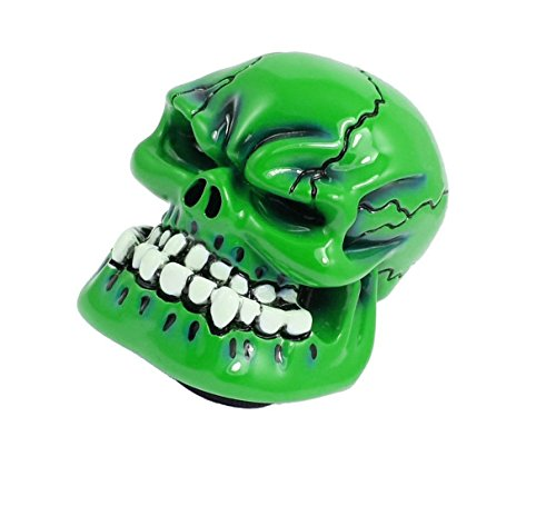 Price comparison product image Human Bone Skull Shift Gear Knob Cover Stick Shifter for Car Truck Green
