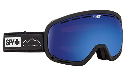 Spy Optic Marshall Essential Black Snow Goggles | Aviation Scoop Design Ski, Snowboard or Snowmobile Goggle | Two Lenses with Patented Happy Lens Tech