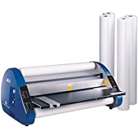 USI Thermal (Hot) Roll Laminator, CSL 2700, Laminates Films up to 27 Inches Wide and 3 Mil Thick, 1 Inch Core, Includes 4 Rolls of Premium Laminating Film; UL Listed Laminator has a 2-YEAR WARRANTY