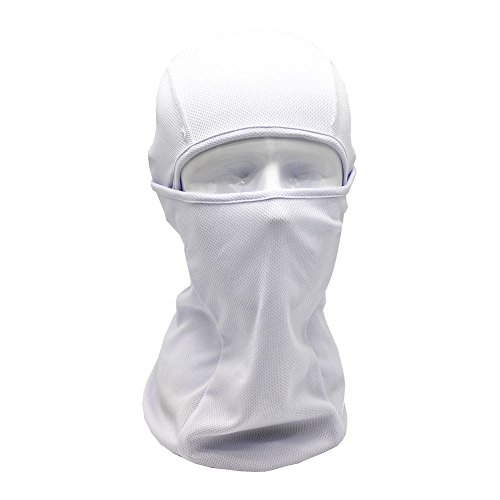 (Tactical Full Face Mask,Women Care Masks Outdoor Ski Sports Warm Hats Cap (White))