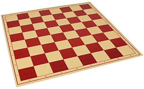 The Chess Store Premium Vinyl Rollup Chess Board Red - 2.375