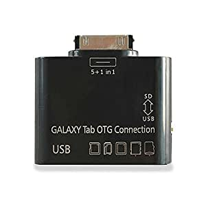 C&E 5-In-1 Samsung Galaxy TAB 10.1 P7500 P7510 USB Card Reader Kit OTG Host Black (APC-110-2BK-p)