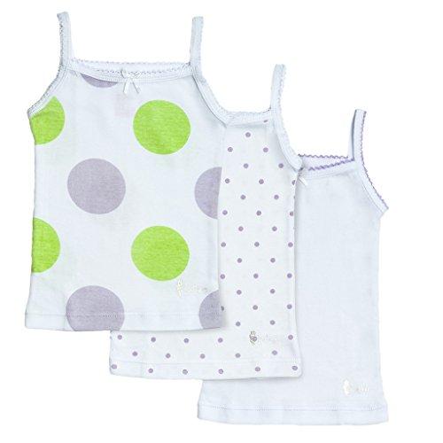 Feathers Girls Polkadot Print Tagless Cami Super Soft Undershirts (3/pack) ,7 (Cami Underwear)