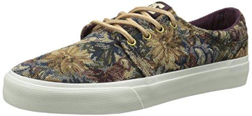 DC TRASE de hombre se Skate zapatos Wine/Stone