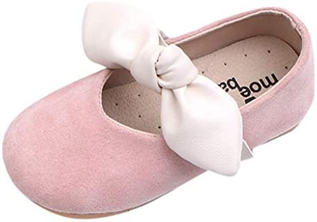 Kukiwa 프린세스 신발 키즈 신발 무지 아동 신발 다닐 예쁜 여자 미끄럼 방지 신고 벗고 편한 여자 드레스 신발 여행 선물 나가고 결혼식 / Kukiwa Princess Shoes Kids Shoes Plain Kids Shoes School Cute Girl Anti-Slip Easy To Wear Off Girl D...