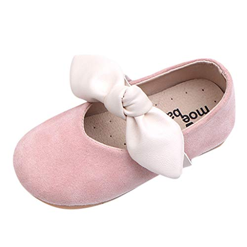 15M-6Y Girls' Walking Shoes Single Buckle Straps Soft Sole Bowknot Mary Jane Princess Shoes for Toddler Girls - Buckle Knotted