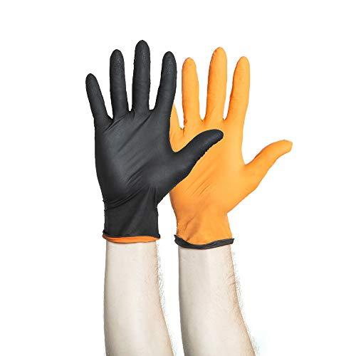 HALYARD BLACK-FIRE Nitrile Exam Gloves, Powder-Free, 5.5 mil, Medium, 44757 (Box of 150)]()