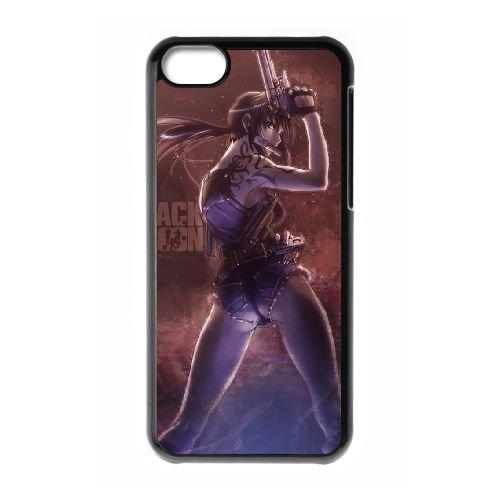 W3V37 lagune noire cas de téléphone G2H5WZ coque iPhone 5c cellulaire couvercle coque noire WT6XKP2NU