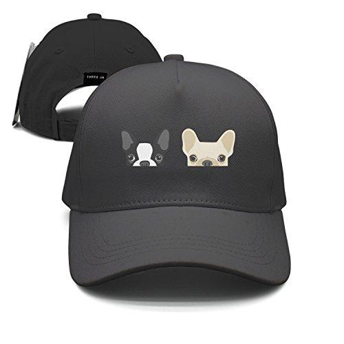 Odsadwd Boston Terrier and French Bulldog Friends Peaked Cap Baseball Caps Visor Hats (Cap Terrier Womens)