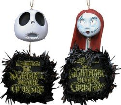 Neca Nightmare Before Christmas Hanging Heads with Wreaths Set of 2 (Sally From The Nightmare Before Christmas Costume)