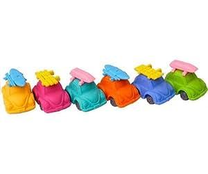 Iwako Fun Turtle Beetle Coches japoneses Borradores (6 piezas)