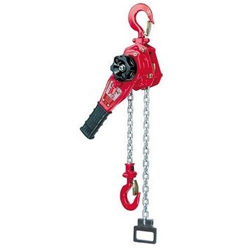 Coffing LSB-1500B-5 Steel LSB-B Model Ratchet Lever Hoist with Hook, 5' Lifting Height, 3/4 Ton Load Capacity