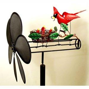 Cardinal Nest Whirligig -