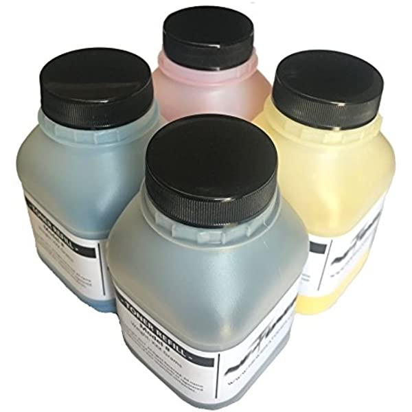Refill Laser Copier Color Toner Powder Kit for Ricoh Aficio MPC 3002 3502 4502 5502 3003 3503 mpc3003sp mpc5502sp mpc3503sp Laser Printer 40g//Bottle,1 Black,1 Cyan,1 Magenta,1 Yellow