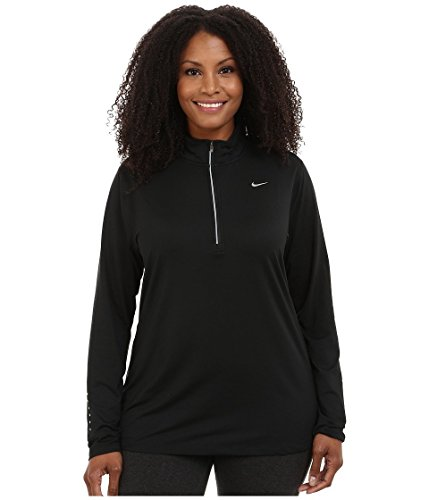 Nike Women's Dri-FIT? Extended Element 1/2 Zip Black/Reflective Silver Outerwear - Element Womens Dri Fit