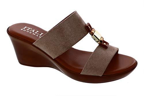 ITALIAN Shoemakers Womens Doda Wedge Sandal (10, Sand)