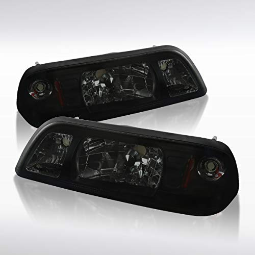 - Autozensation For Ford Mustang Smoke Crystal Headlights Corner Signal/Parking Lights