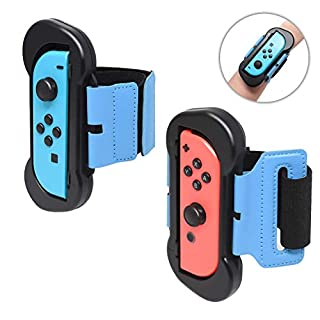 Wrist Bands for Nintendo Switch Controller Game Just Dance 2020 Just Dance 2019, Adjustable Elastic Strap for Joy-Cons Controller, Two Size for Adults and Children(1 pair)