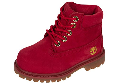 (Timberland Kid's Waterbuck 6 Inch Premium Boot (10 Toddler M, Ruby))