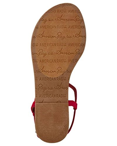 Sandali Piatti Americani Con Lacci E Tacco A Spillo Krista Rosso 5m