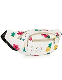 Water Resistant Pineapple Fanny Pack Running Belt Waist Pack Running Waist Bag Belt Best Fitness Gear for Hands Free Workout by TOPERIN (Pineapple)