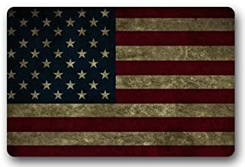American Flag Usa Flag Usa Flag Large Doormat Neoprene Backing Non Slip  Outdoor Indoor Bathroom Kitchen