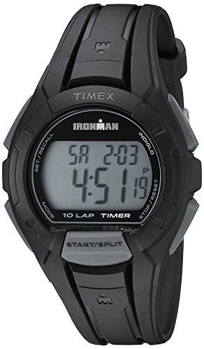 Timex Men's TW5K94000 Ironman Essential 10 Black Resin Strap Watch (Resin Strap Black)