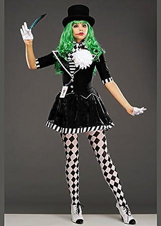 Delights Disfraz de Joker Mime para Mujer, Color Blanco y Negro ...