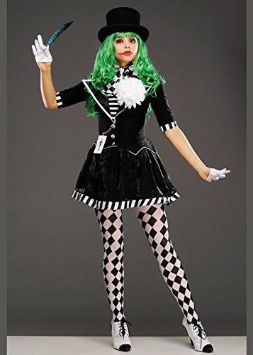 Magic Box Womens Blanco y Negro El Traje de mimo Joker Large ...