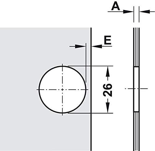95/° 4 Sets Abdeckung Schlie/ßautomatik H1430 inkl Gedotec Glas-T/ürscharnier montieren Topfscharnier f/ür Vitrine M/öbel-Scharnier einbauen