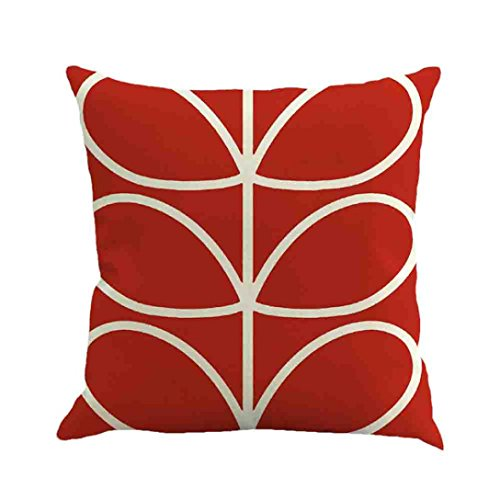 Kimloog Throw Pillowcase,Geometric Pattern Solid Linen Cushi