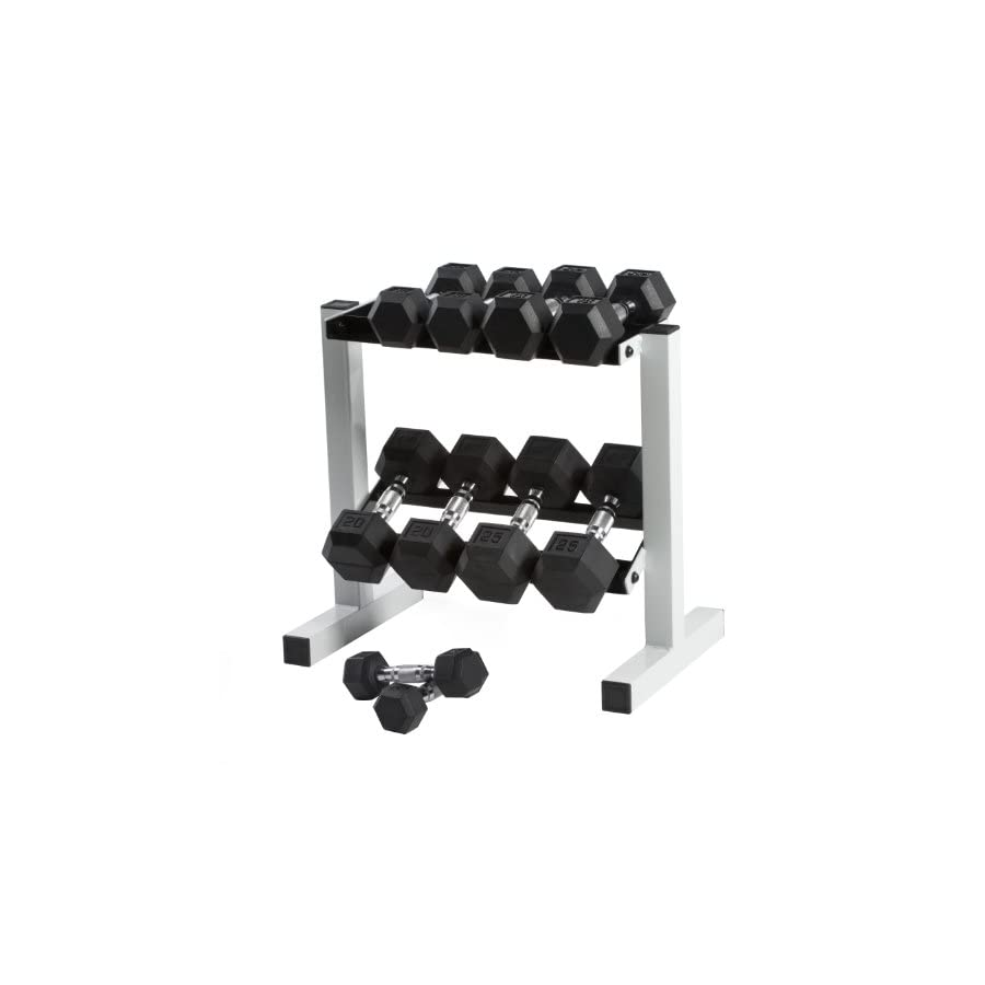 Cap Barbell Rubber Hex Dumbbell Set, 150 Pound