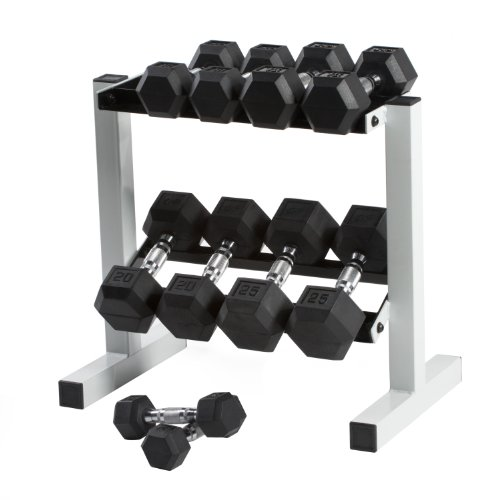 Cap Barbell Rubber Hex Dumbbell Set, 150-Pound by CAP Barbell