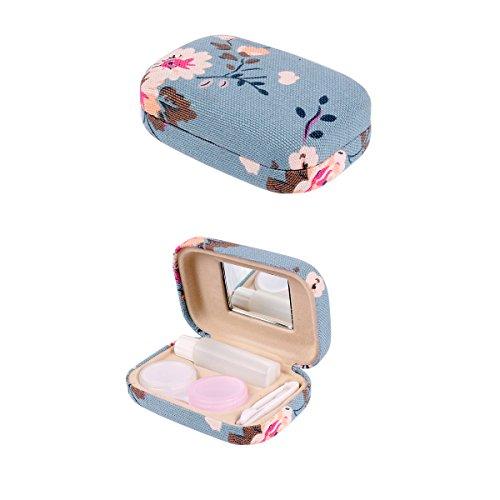 Ezeso Portable Travel Contact Lens Case Box Eye Care Kit Holder Mirror Box (A) (Contact Lens Case Travel)