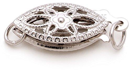 Blanc 6-7mm AAA-qualité perles d'eau douce 375/1000 Or Jaune-Collier de perles