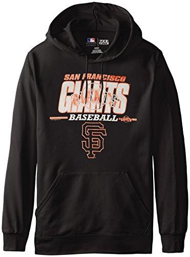 MLB San Francisco Giants Men's SA2 Fleece Hoodie, Black, Medium San Francisco Giants Hooded Pullover