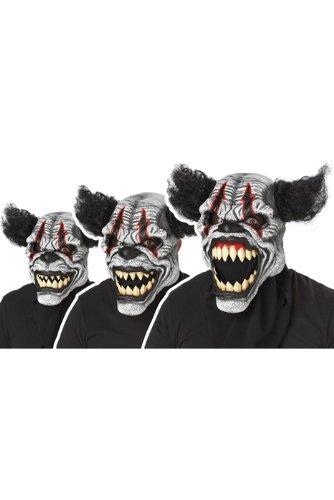 Ani Motion Masks (California Costumes Men's Ani-Motion Masks - Last Laugh The Clown Ani-Motion Mask, Black/Red, One Size)