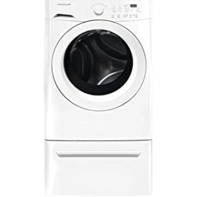 Frigidaire FFFW5000QW 27' Front Load Washer with 3.9 cu. ft. Capacity Stainless Steel Drum Delay Start Antimicrobial Seal Automatic Water Level Control and Energy Star Rated in